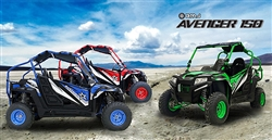 BMS AVENGER 150 EGL 22 Youth UTV Air cooling, Automatic with Reverse, Rear Differential, LED Lights, Windshield. Suitable for children ages 14+ and small sized adult riders. Free shipping to door, free high quality Motocross helmet.