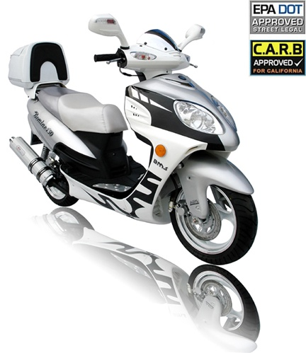 2013 bms bemine 150cc scooter moped w remote alarm dual disc brakes carb approved. Black Bedroom Furniture Sets. Home Design Ideas