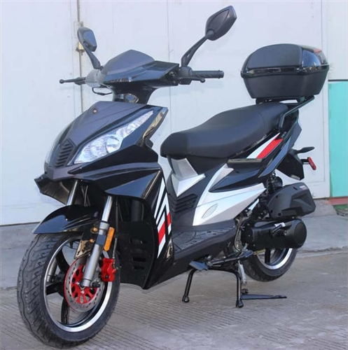 roketa 150cc scooter with 14 big dot tires dual disc brakes led style lights mc 49 150. Black Bedroom Furniture Sets. Home Design Ideas