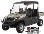 2016 BMS Ranch Pony 600cc 4-Seater EFI UTV 37hp 2WD/4WD Selectable with 4 Wheel Disc Brake, Stereo, Windshield, Hard roof (60% Assembled). Free shipping to home.
