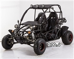 "CARB Approved BMS 150cc ""Sand Sniper"" Go Kart Automatic+Reverse w/ windshield, Roof, Luggage rack, 4 Wheel fenders"