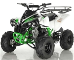 """SPORTRAX"" FULL SIZE 125CC ATV Fully Automatic+Reverse, Foot gear shifter, 7"" Wheels, Free Large Luggage Rack (ATV-121-125). Free shipping to your door including a free helmet."