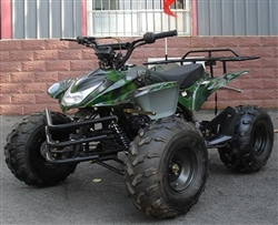 """Shark-125"" 125cc Full Size Sport ATV Automatic with Reverse, Remote Engine Kill, Foot Shifter, 19"" & 20"" Big Tires (ATV-69L-125). Free shipping to your door including a free helmet."