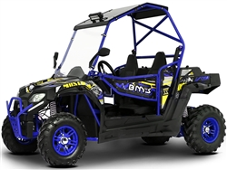 BMS AVENGER 150 LX22 Youth UTV Air cooling, Automatic with Reverse, Rear Differential, LED Lighting, Roof light, Doors, Windshield. For ages 12+ and small sized adult riders. Free shipping to door, free high quality Motocross helmet. 6 months warranty.