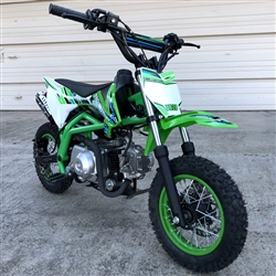 "2018 TAOTAO 110cc Premium Pit Bike 4 Stroke Air Cooled Fully Automatic, Dual Disc Brakes, Electric Start, 30 mph, 10"" Tires (DB20). Free shipping to your door. Free helmet. 6 month warranty. EPA, DOT, CARB Approved for all 50 States."