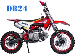 "2020 TAOTAO Premium 110cc Pit Bike Semi Automatic 3 Speed, Kick Start, 30 mph, 14""/12"" Tires, Dual Disc Brakes (DB24). Free shipping to your door. Free helmet. 6 month warranty. EPA, DOT, CARB Approved for all 50 States."