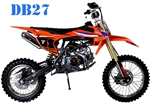 TAO TAO 125cc Premium Dirt Bike 4 Speed Manual, 38 MPH, Dual Disc Brakes, Inverted Forks DB27. Free shipping to your door. Free helmet. 6 month warranty. EPA, DOT, CARB Approved for all 50 States.