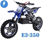 "TAOTAO 350W Electric Dirt Bike Automatic 1 speed, Electric Start, Dual Disc Brakes, 10"" Alloy Wheels, Real Knobby Off-road Tires (E3-350). Free shipping to your door. Free helmet. 6 month warranty. Licensing is not needed."