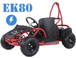 95% Assembled TAO TAO EK80 800 Watt Electric Go kart Automatic with Reserve Adjustable Speed (10/15/20+ MPH), Knobby Off-road Tires, Registration not needed, Maintenance free. FREE SHIPPING, FREE HELMET