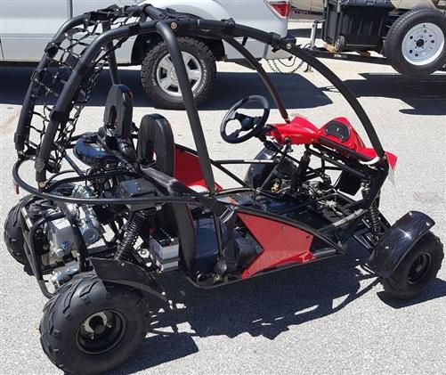Kandi BIG CAT 125cc 2 Seater Go Kart KD-125GKT Automatic w/ Reverse F&R  Disc Brakes LED Lights Large Legroom