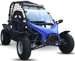"NEW DESIGN Oil Cooled 200cc Jumbo Sized Racing Style Go Kart Automatic with Reverse, Chrome 10"" big wheels, 4 wheel fenders, mirrors, safety net, windshield, LED light bar.. For 13+. Top speed 45 MPH, KD-200GKJ-2A, free shipping to your door, free helmet."