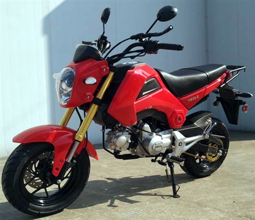 Assembled 50cc Street Bike Manual 4 Speed With 12 Tires Inverted
