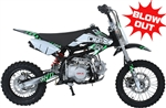 "ICE BEAR 125cc ""ROOST"" Dirt Bike Manual 4 Speed, Dual Disc Brakes, 14""/12"" Tires, 28"" Seat Height, Seamless Tubing Frame, 46 mph (PAD125-1). Free shipping to your door. Free helmet. 6 month warranty. EPA Approved."