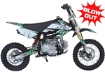 "ICE BEAR 125cc ""ROOST USD"" Dirt Bike Manual 4 Speed, Dual Disc Brakes, 14""/12"" Tires, 28"" Seat Height, Inverted Forks, Seamless Tubing Frame, 46 mph (PAD125-1D). Free shipping to your door. Free helmet. 6 month warranty. EPA Approved."