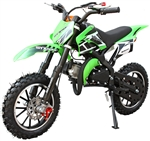 "ICE BEAR HOLESHOT (PAD50-1) 50cc 2-Stroke Pit Bike Children Dirt Bike w/ Tether switch, Fully Automatic, Dual Disc Brakes, 10"" Aluminum Wheels, 30 mph. Free shipping to your door. Free motocross helmet. 6 month warranty. EPA & CARB Approved for 50 States."