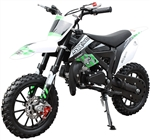 "ICE BEAR HOLESHOT-X (PAD50-2) 50cc 2-Stroke Pit Bike Fully Automatic, Dual Disc Brakes, 10"" Aluminum Wheels, Tether kill switch. Free shipping to your door. Free motocross helmet. 6 month warranty. EPA and CARB Approved for all 50 States."