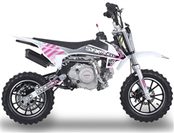 "ICE BEAR PAD60-1 ""Tearoff"" 60cc 4-Stroke PIt Bike w/ Electric Starter, Fully Automatic, Dual Disc Brakes, Inverted Forks, 10"" Aluminum Wheels, Tubeless Knobby Tires, 25 mph. Free shipping to your door. Free motocross helmet. 6 month warranty. EPA & CARB."