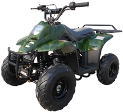 "Newly Upgraded ICE BEAR 110cc Youth ATV Automatic with Reverse, Remote Engine Stop, 6"" All-terrain Tires (PAH110-2R). Free shipping to door, free DOT approved motocross helmet, 6 months bumper to bumper warranty"