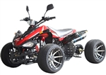 "CARB Approved ICE BEAR R-12 Japanese Style 125cc Racing Quad Deluxe ATV, Semi Automatic 3 Speed with Reverse, Dual Disc Brakes, Air shock absorber, 12"" Big Wheels, Rear-view mirrors, Free shipping to your door, free DOT high quality motocross helmet."
