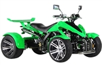 "CARB Approved R350 2017 Model 350cc Racing ATV Manual 6 Speed with Reverse, 30 Horsepower, Dual Mufflers, Disc Brakes, Air Shocks, 14"" Aluminum Wheels, up to 78mph! Free shipping to your home or business, free helmet."