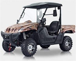 BMS Ranch Pony 500cc UTV 34hp 2WD/4WD Selectable Hi/Lo Gear, 4 Wheel Disc Brake, Stereo, Windshield, Hard roof. Free shipping, free helmet.