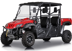 BMS 2020 Ranch Pony 700cc 4 seater UTV EFI ECU 43hp 2WD/4WD Switchable, Automatic CVT P/R/N/L/H, 4 Wheel Disc Brakes, Bluetooth Dual Speakers MP3 Radio, Windshield, Hard roof. Free shipping to local terminal. Free helmet and lift-time technical support.