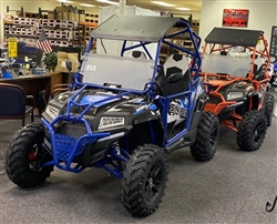 "2019 BMS Sniper T350 Full Sized Side x Side Water Cooled, Automatic with Reverse 4x2, LED Lights, 25"" Big Tires, free shipping to  your home or business, free helmet."