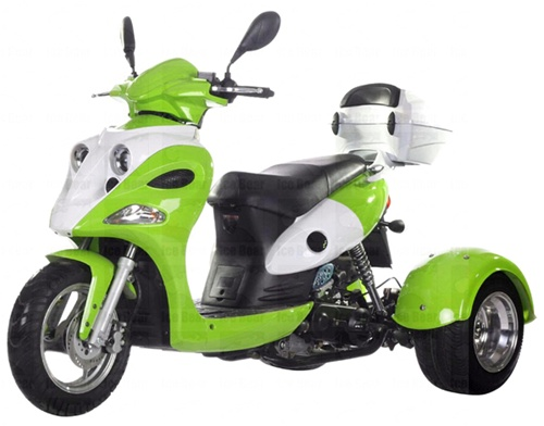 Ice Bear Quot Ace Quot 50cc Motor Trike Moped Scooter Pst50 12